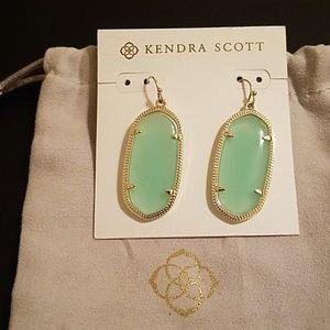 Kendra Scott Elle Gold Drop Earrings AUTH EUC